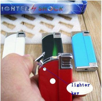 Free shipping Electric Shock Lighter Prank Joke Gag Trick Get Zzamm