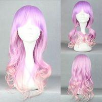 Free Shipping charming  55cm Long Multi-Color Beautiful lolita wig Anime Wig