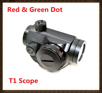 Tactical Micro Illuminated Red Green Dot Sight Mini Compact Riflescope T1 for 20mm Rail Mounts Hotsale