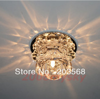 D19Modern Crystal LED Ceiling Hallway Light Pendant Lamp Fixture Bulb Chandelier