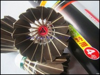 Free Shipping  Class A Black Goose Feather HANGYU NO.4  Durable Badminton Shuttlecock 1lot/24pcs