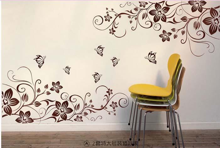 Murale papillon promotion achetez des murale papillon for Decalque mural