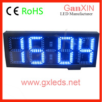 Hot product 8inch 4digits blue outdoor high quality easy installed waterproof countdown clock, led timer