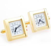 Gold Square Watch Cufflinks