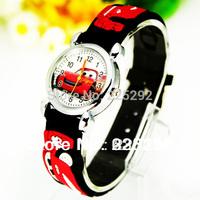 2PCS/lot Free shipping retail wholesale hot sales black 3D cartoon kids boys Watch gifts quartz wrist watch high-quality