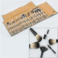 Big Discount !High Quality  20 pcs Cosmetic Facial Make up Brush Kit Makeup Brushes Tools Set Free Shipping
