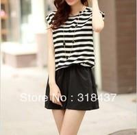FREE SHIPPING Women's  fashion jumpsuit , chiffon stripe jumpsuits,WF1427