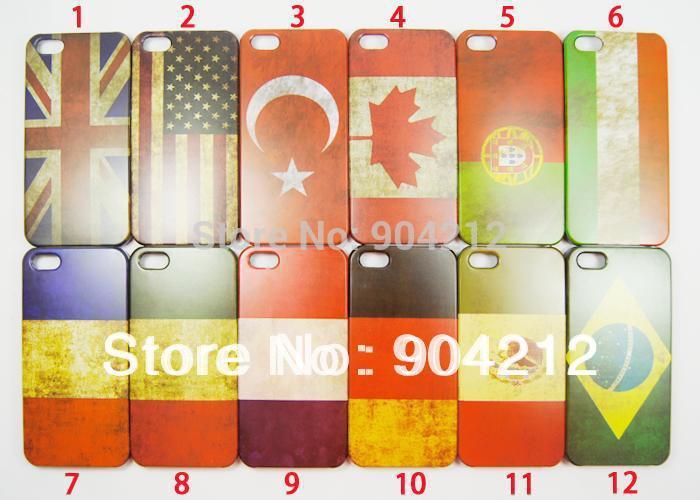Hot Retro National Flag UK USA Canada Flag Hard Plastic Case For iphone 4 4s 5 5s(China (Mainland))