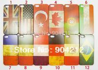 Hot Retro National Flag UK USA Canada Flag Hard Plastic Case For iphone 4 4s 5 5s