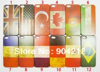 Hot Retro National Flag UK USA Flag Hard Plastic Case For iphone 4 4s,Canada Flag Case for iphone 5 5s