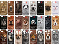Promotion New Arrival Love Animal Series Hard Back Plastic Case for iphone 4 4s,Free Shipping