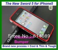 LJY Double Color New Sword 5 Case Aluminium Bumper for iPhone 5 the metal case for iphone5 5G with retail box Free shipping