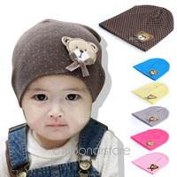 Babys hat, head cap,with cute little bear pattern , babys cotton cap, for baby 0-12M, spring&autumn TZ388
