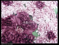 3d two-color three-dimensional flowers2014 new embroidered pink purplish red flower diy handmade fabric lace  fashion Fabrics