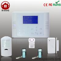 Quad Band GSM + PSTN Dual Network Touch Keypad Wireless Diy  Home Burglar Alarm System with multi-language