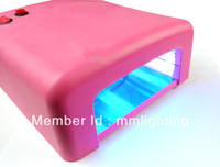 Pink Color 36W Phototheraph Machine EU/AU Plug 110v~220v UV Gel Lamp