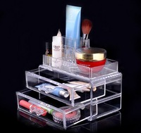 High Quality Acrylic Transparent plastic jewelry storage Box Large Crystal Glass Cosmetic box Drawer Storage Box