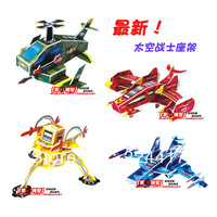 Child diy assembling 4 fighter boy educational toys