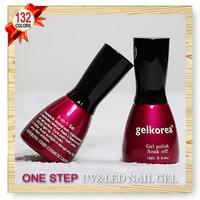 132 Color CNF Nail art UV Gel polish Soak-off Soak off for UV LED Lamp ONE STEP 3 IN 1 Nail GEL 15ml 5oz 24 Pcs Lot)