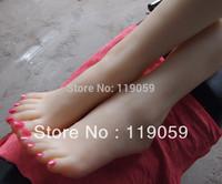 Exclusive dealing--sex real doll solid silicone Pussy Feet fetish women feet model female feet girls feet with calf bone #37A01