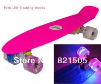 "22"" Penny Skate board Nickel Cruiser mini skates plastic longboard with LED flashing wheels luminous"