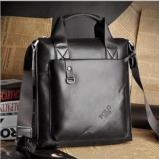 2014 Hot fashion man bag casual shoulder bag  high quality leather messenger bag handbag free shipping