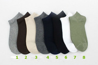 2013 Cotton socks For men's boy's Lovely cute candy color Round Dot sock gray autumn/summer/spring  free shipping