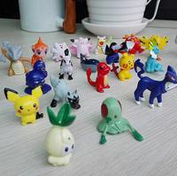 24pcs  Different  Styles Pokemon Figures Bag Monster Mini Figures 2-3cm in Random Pearl