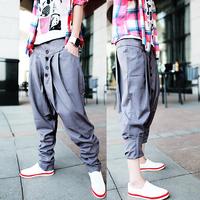 2013 Korean Style Mens harem Hip Hop Pants Fashion Newly Designer Baggy Pants Casual Loose  Cargo Jogging pants Gray and Black