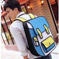 cartoon 2d/3d gismo comic 3d cartoon shoulder 3d/2d comic cartoon backpack 3d comic backpack
