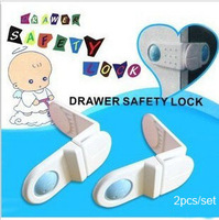 New Arrival Wholesale 20sets/lot Cute Cartoon Bendy Door Drawers Safety Lock For Child Kids Baby Safety Cabinet  Drawer Locks