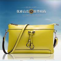 The new 2014 cowhide envelope bag fashion small hand bag shoulder bag lady bag leather handbag