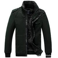 Free shipping 2013 Winter new Plus famous brand men Thicken coat fashion  warm Cotton clothes jacket 2 colors size M~XXXL
