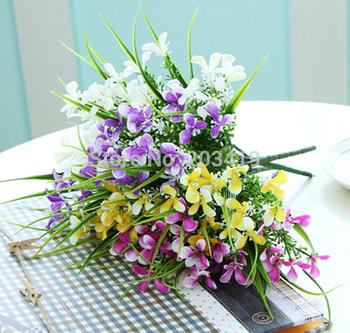 1PCS Bouquet Artificial gladiolus slik flowers plants for Wedding Party Home Decoration gift craft DIY mulit color option whcn+