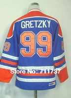 Free Shipping Ice hockey jersey,#99 Wayne Gretzky Kids/Youth Hockey jersey,Embroidery and Sewing logo,Size S--XL,Mix Order