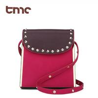 2013 TMC Vintage Fashion Trend Handbag Women Retro Scrub Lovely Rivet Solid Leisure Bag Cross Body JY034