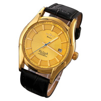 Mechanical watches Complete Calendar Men Sports watches Luxury brand Analog wristwatch Winner leather Strap Military watch