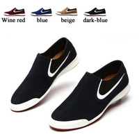 New Hot Sell 2013 British Style Breathable Casual Shoes Loafers Gommini Men's Genuine Leather Fashion Shoes Men Sneakers