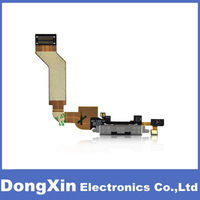 100PCS X 100% Original Charging Dock Connector Port Flex Cable for iPhone 4S Black Replacement,free DHL/EMS
