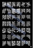A-Z Series XL Medium Size Stamp Stamping Image Plate Print Nail Art Large BIG Template DIY