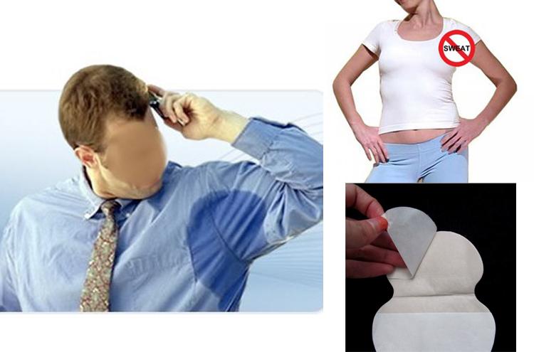 24pcs=12bags/lot underarm dress,Underarm sweat pads deodorant armpits khan antiperspirant Men Women tape Stickers(China (Mainland))