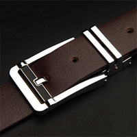 Fashion Leather Metal Mens Belt 100% Cowskin Mens Belt  Free shipping PYP013