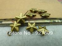 100pcs/lot Ancient Bronze Five-pointed Star 8mm diy accessories vintage