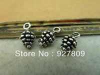 Free Delivery Antique silver Echinacea 5*15mm  60pcs/lot   Pine tree fruit Jewelry Accessories