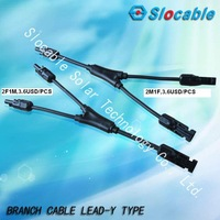 MC4 Adapter Cable Y Branch Connectors For Solar Panels
