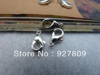 Free Shipping 2013 Jewelry Connection White K Copper Lobster Clasp  6*12mm 50pcs/lot