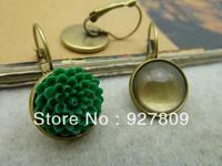 Copper stud earring 14mm 20pcs/lot  diy accessories vintage