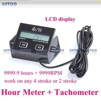 Hour Meter Tach Tachometer speedometer for Harley Custom Kawasaki Suzuki Motorcycle Bikes