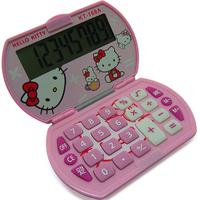 Pink Hello Kitty Mini Pocket Super-thin Clamshell Calculator Stationary