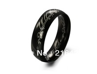 Hot Selling Men's 316L Stainless Steel Ring Titanium Rings Lord of The Rings Black Color Size 7/8/9/10/11/12